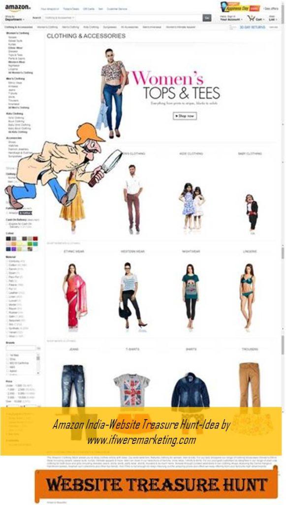 ecommerce-amazon india-website treasure hunt-www.ifiweremarketing.com
