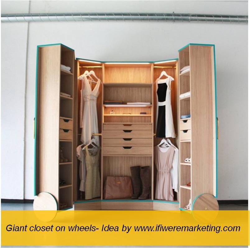 fashion marketing-amazon- giant or life size closet on wheels-www.ifiweremarketing.com