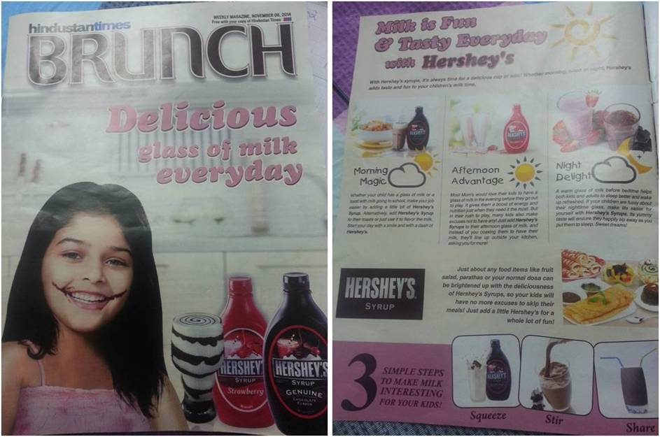 hershey chocolate syrup magazine ad-www.ifiweremarketing.com