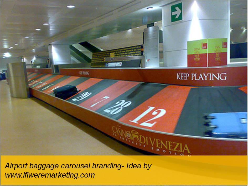 unusual marketing ideas-dunkin donuts-airport baggage carousel-www.ifiweremarketing.com