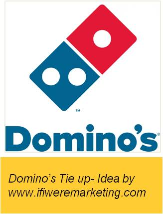 unusual marketing ideas-dunkin donuts-tie up of dunkin donuts with dominos pizza-www.ifiweremarketing.com