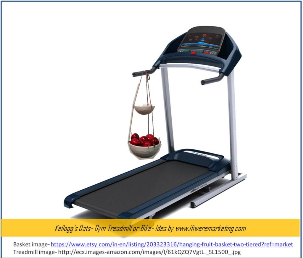 kellogg's oats- gym treadmill or bike- www.ifiweremarketing.com