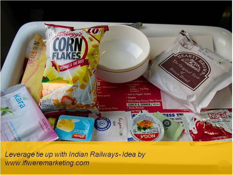 kellogg's oats- leverage tie up with Indian railways- www.ifiweremarketing.com