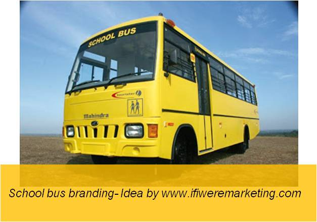 kellogg's oats- school bus branding- www.ifiweremarketing.com