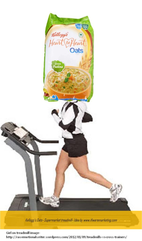 kellogg's oats- supermarket treadmill- www.ifiweremarketing.com