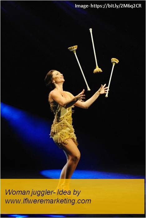 women horlicks marketing-Woman Juggler-www.ifiweremarketing.com