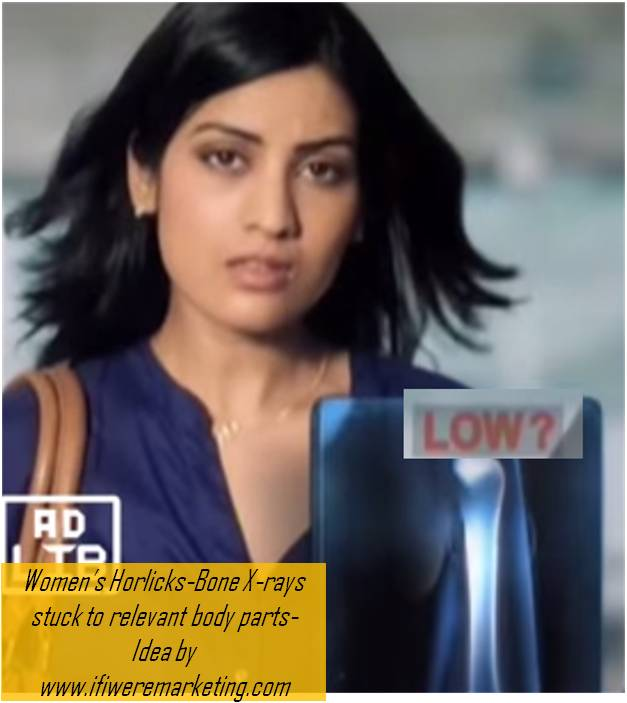 women horlicks marketing-bone xrays stuck to different body parts-www.ifiweremarketing.com