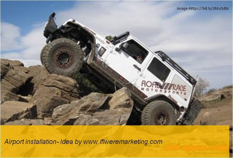 car tyres marketing-ceat-Airport installation-www.ifiweremarketing.com
