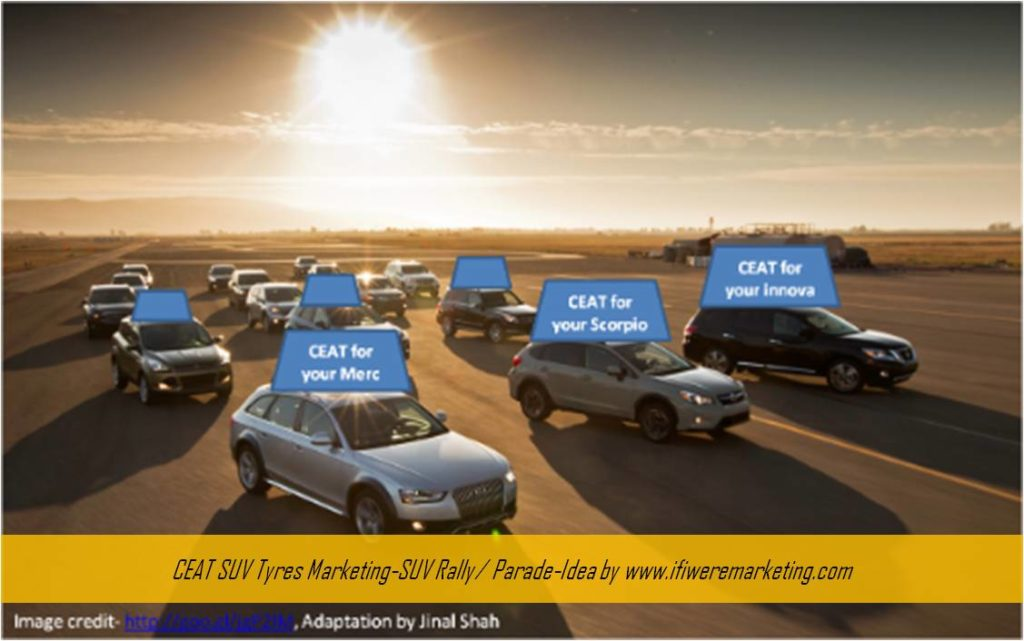car tyres marketing-ceat-SUV Rally or Parade-www.ifiweremarketing.com