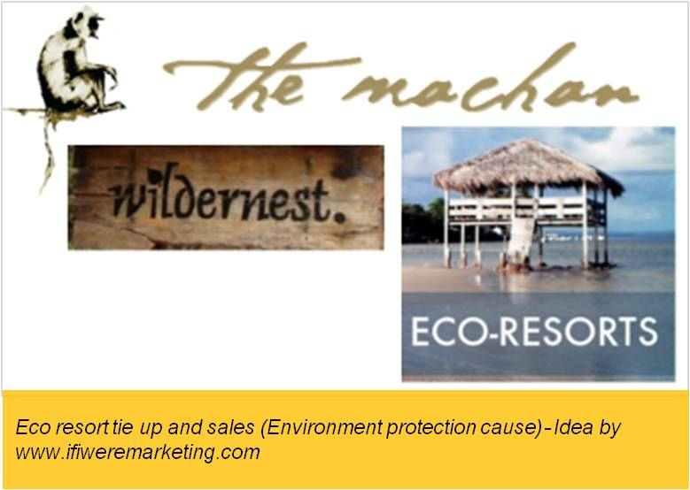 electrical equipment marketing-havells fans-eco resort tie up- environment protection cause