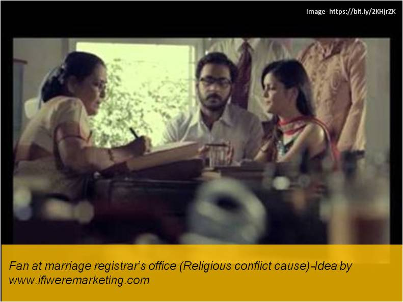 electrical equipment marketing- havells fans- fan at marriage registrar office- religious conflict cause-www.ifiweremarketing.com
