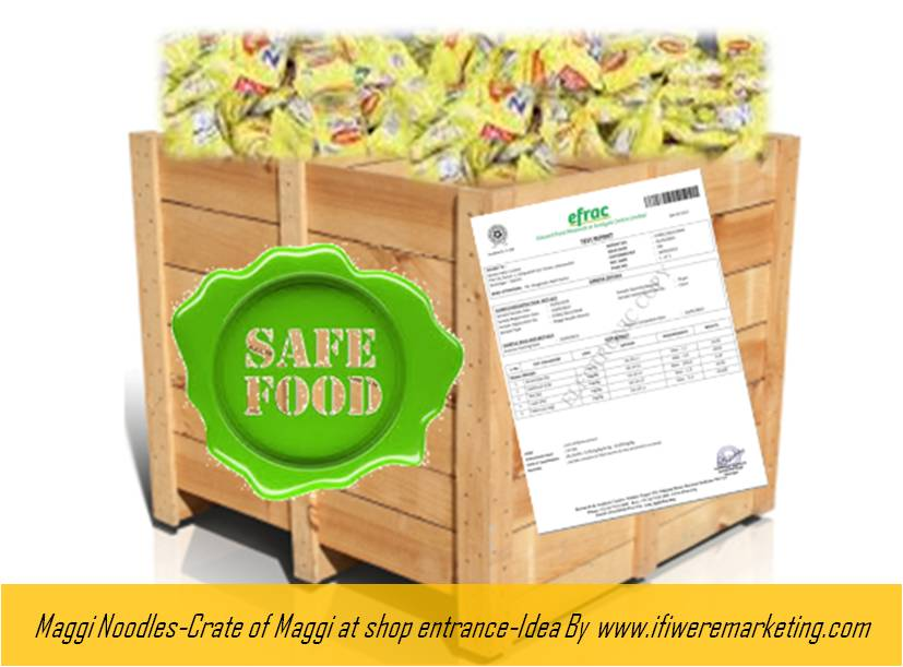 maggi noodles-crate of maggi at shop entrance-www.ifiweremarketing.com