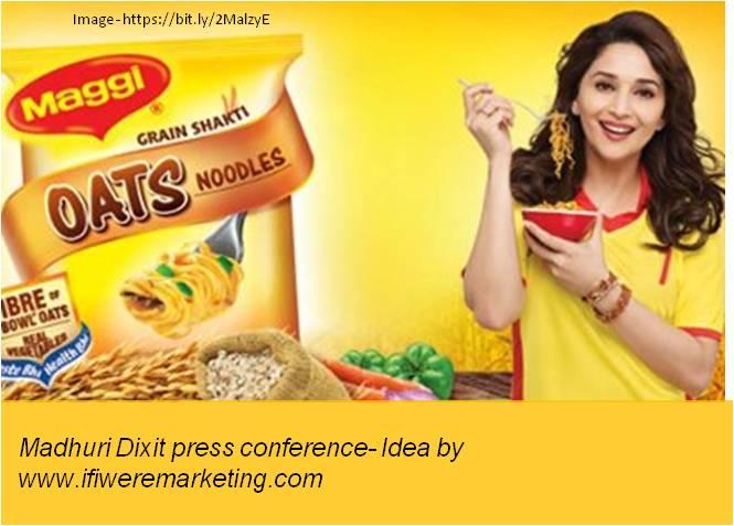 maggi noodles-leverage brand ambassador madhuri dixit-www.ifiweremarketing.com