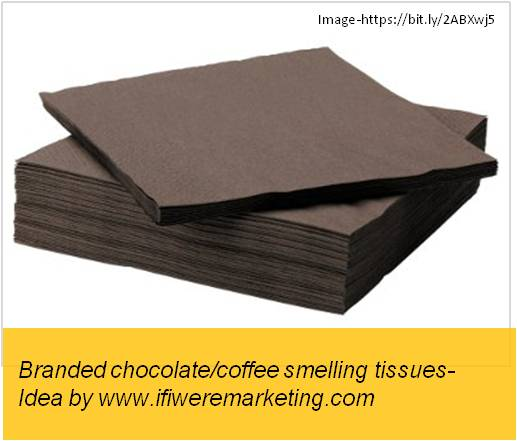 magnum ice cream-branded coffee and chocolate smelling paper napkins-www.ifiweremarketing.com