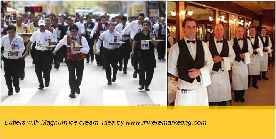 magnum ice cream- butlers with magnum ice cream-www.ifiweremarketing.com