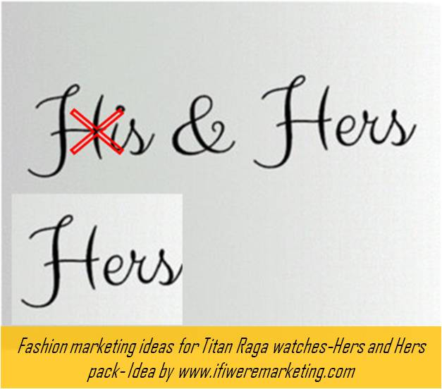 fashion marketing ideas for titan raga watches-hers and hers pack-www.ifiweremarketing.com
