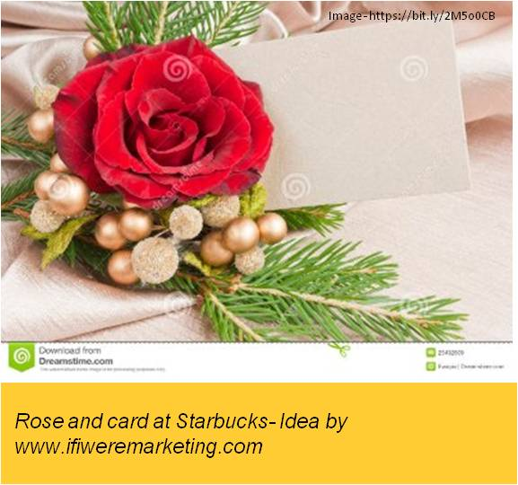 fashion marketing ideas for titan raga watches-rose and card at starbucks-www.ifiweremarketing.comfashion marketing ideas for titan raga watches-rose and card at starbucks-www.ifiweremarketing.com