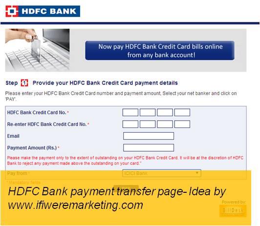 insurance marketing hdfc bank payment transfer page-www.ifiweremarketing.com