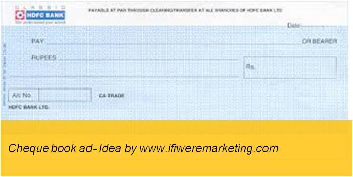 insurance marketing hdfc cheque book ad-www.ifiweremarketing.com