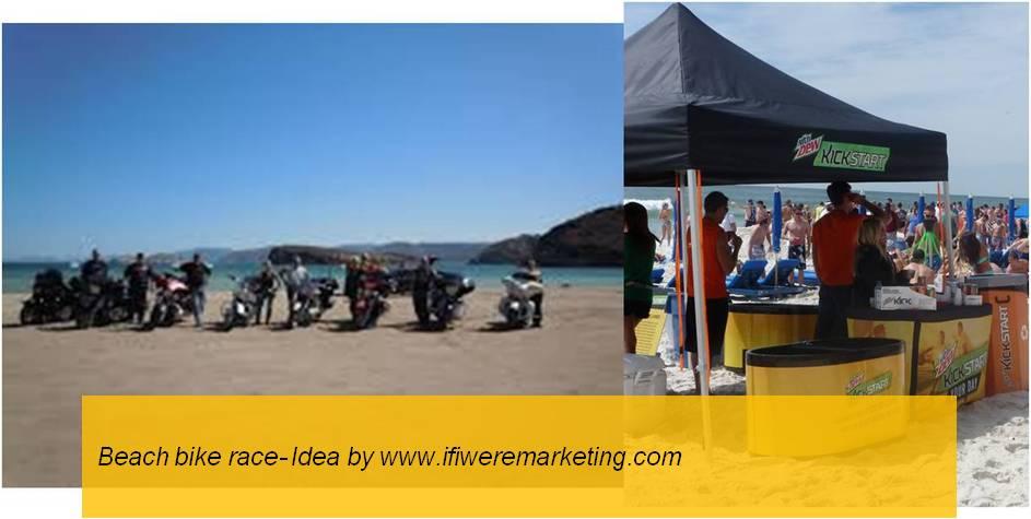 experiential marketing-beach bike race-www.ifiweremarketing.com