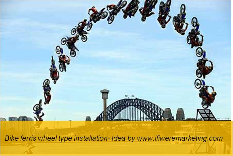 experiential marketing-bike ferris wheel-www.ifiweremarketing.com