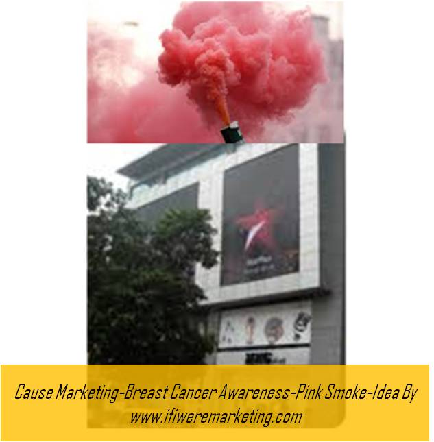 cause marketing-star plus breast cancer awareness-pink smoke-www.ifiweremarketing.com
