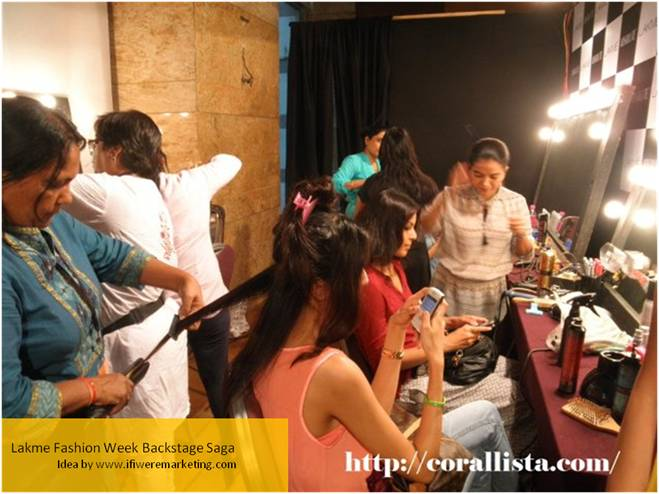 sticky marketing ideas-parachute coconut oil-lakme fashion week backstage saga-www.ifiweremarketing.com