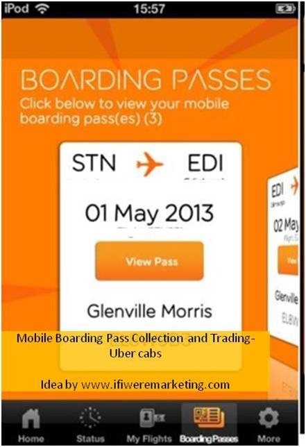 clever marketing ideas-uber- boarding pass collection-www.ifiweremarketing.com