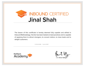 hubspot inbound certified-www.ifiweremarketing.com