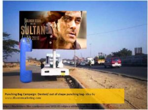sultan movie marketing ideas-punching bag campaign-dented out of shape punching bag-www.ifiweremarketing.com