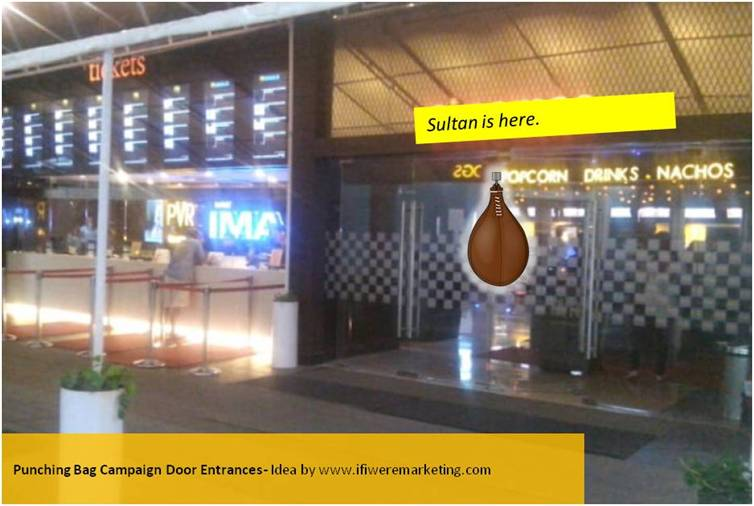 sultan movie marketing ideas-punching bag campaign-door entrances-www.ifiweremarketing.com