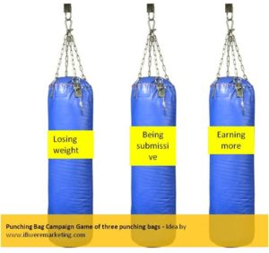 sultan movie marketing ideas-punching bag campaign-game of three punching bags-www.ifiweremarketing.com