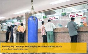 sultan movie marketing ideas-punching bag campaign-punching bag at railway station-www.ifiweremarketing.com