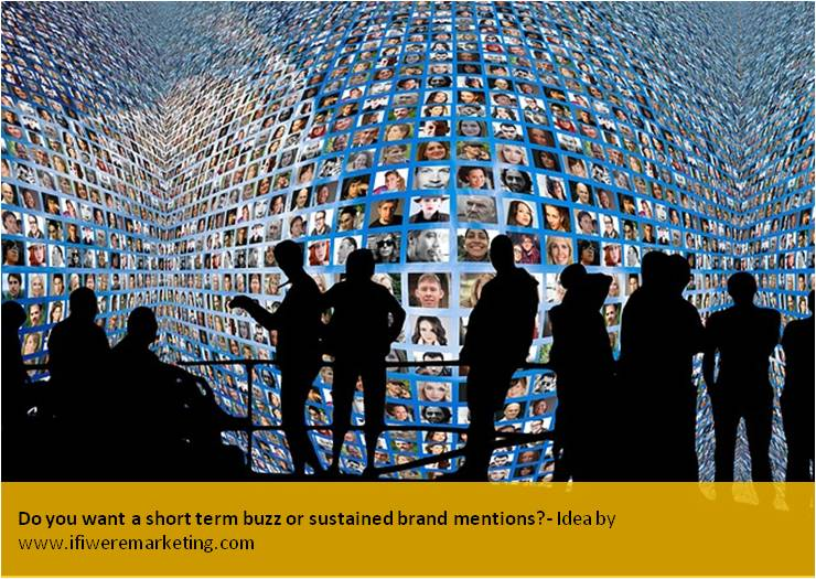 guerrilla marketing-do you want a short term buzz or sustained brand mentions-www.ifiweremarketing.com