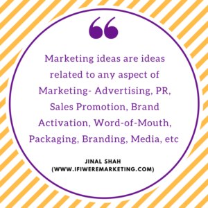What are innvoative marketing ideas? www.ifiweremarketing.com