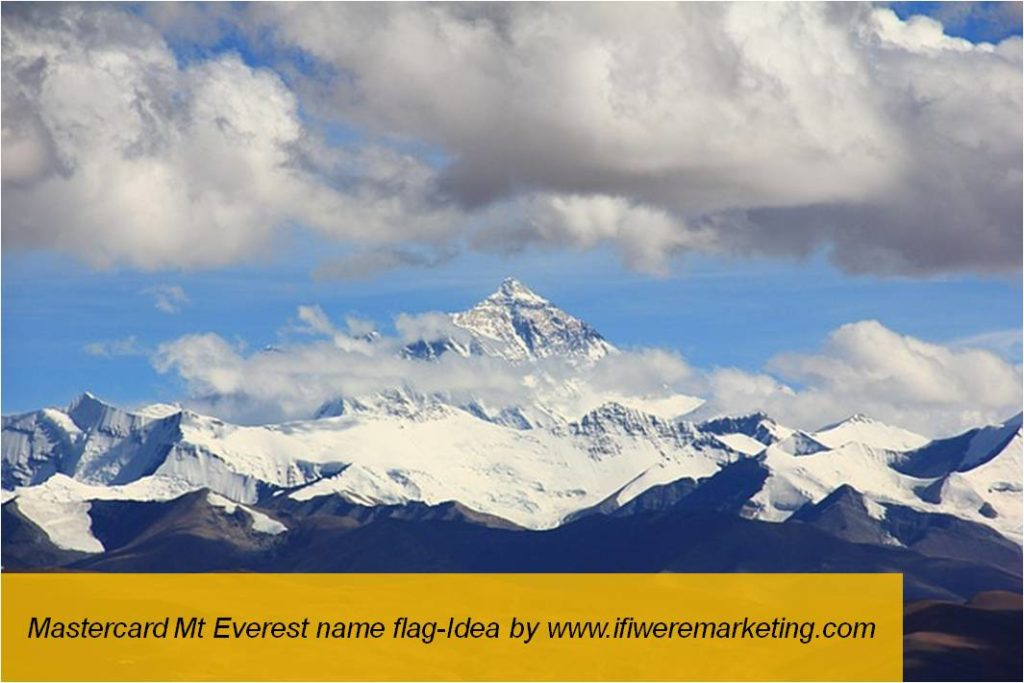 mastercard mt everest name flag-www.ifiweremarketing.com