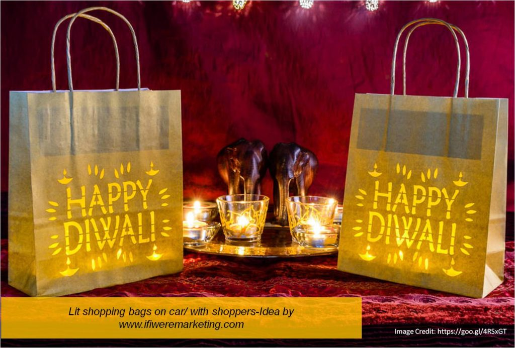 lit shopping bags-diwali marketing ideas-www.ifiweremarketing.com