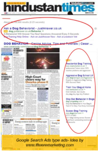 google search ads type ads-newspaper marketing-www.ifiweremarketing.com