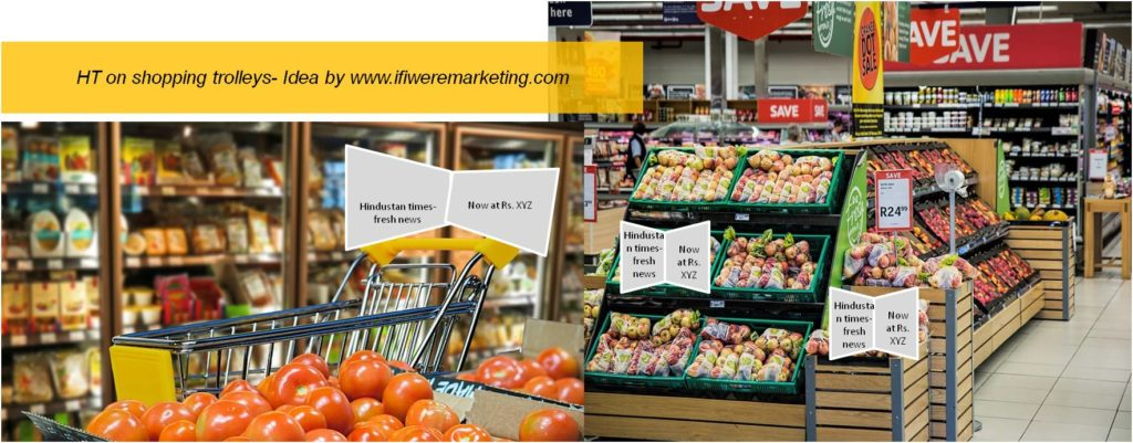ht on shopping trolleys-newspaper marketing-www.ifiweremarketing.com