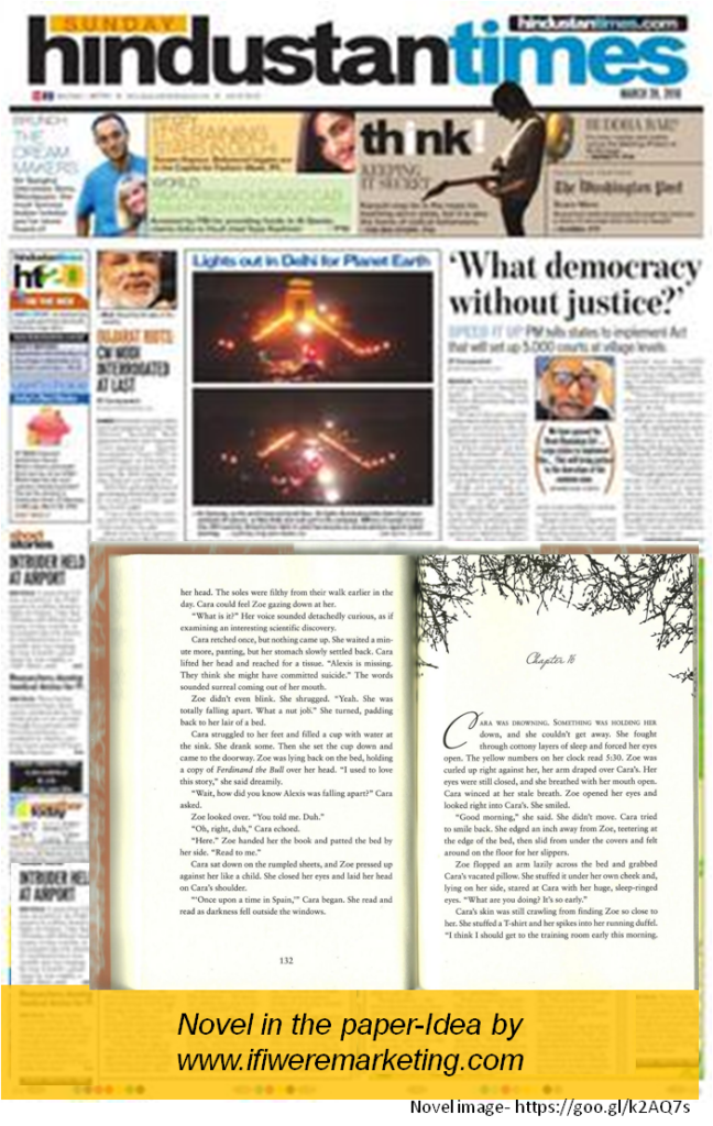 novel in the newspaper-newspaper marketing-www.ifiweremarketing.com