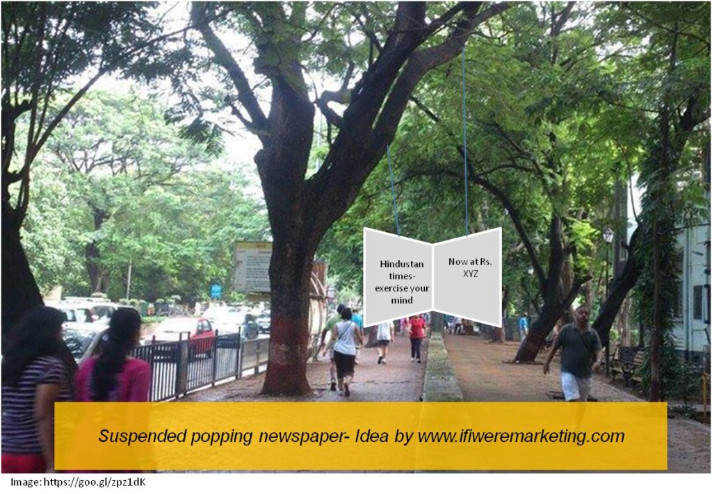 suspended popping newspaper-newspaper marketing-www.ifiweremarketing.com