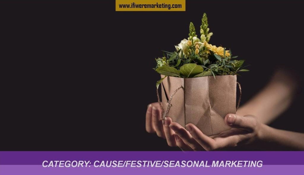Category-cause marketing, festive marketing, seasonal marketing-www.ifiweremarketing.com