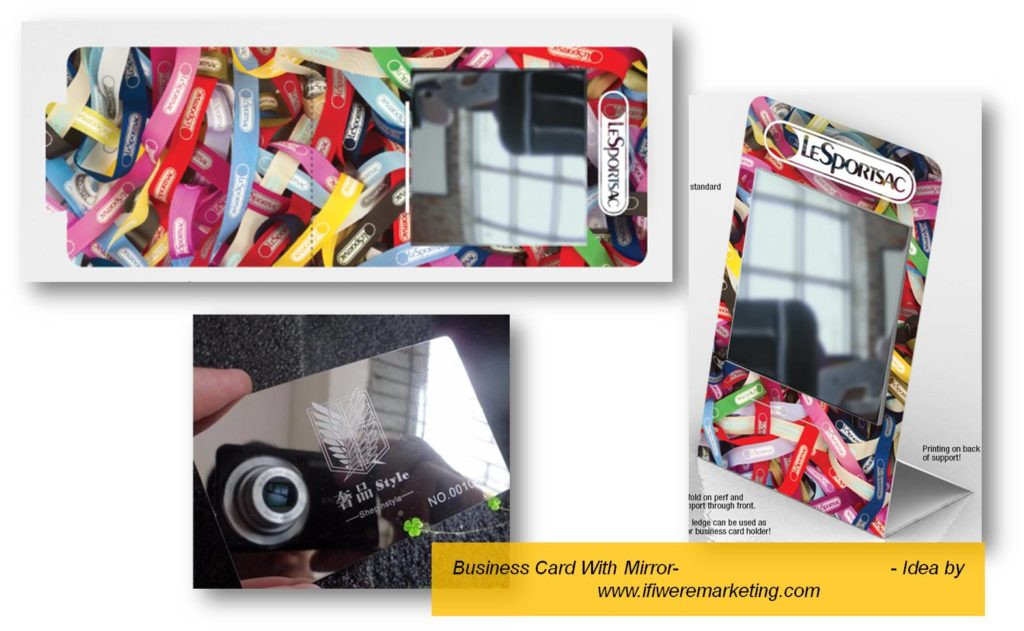 business card with mirror-low cost marketing-brand awareness-www.ifiweremarketing.com